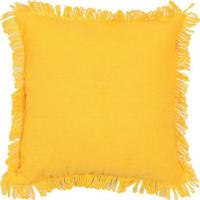 Capa Para Almofada Campestre Solid- Amarelo Escuro- Artesanal