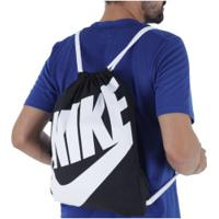 Gym Sack Nike Heritage - 13 Litros - Preto/Branco