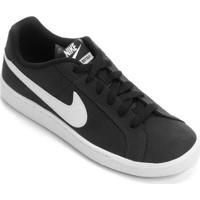Tênis Couro Nike Court Royale Feminino - Feminino-Branco+Preto
