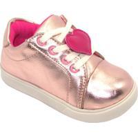 Tênis Com Amarração Coração - Cobre Pink- Luluziluluzinha