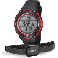 Monitor Cardíaco Speedo Jest 80565G0Epnp - Masculino-Preto+Vermelho