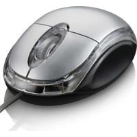 Mouse Optico Classic Usb Multilaser Mo006 Prata