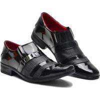 Sapato Social Verniz Masculino - Masculino-Preto