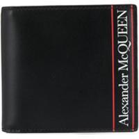 Alexander Mcqueen Carteira Com Logo E Listras - Preto