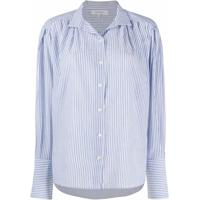 Frame Camisa Listrada Com Punho Largo - Azul
