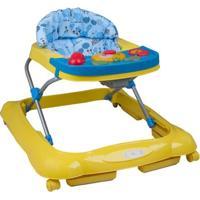 Andador Tango Azul E Amarelo + Brinquedos