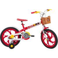 Bicicleta Caloi Minnie - Aro 16 - Freios Cantilever - Feminina - Infantil - Vermelho