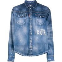 Dsquared2 Camisa Jeans Icon - Azul