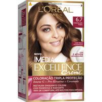 Coloração Imédia Excellence Creme N°6.7 Chocolate Puro Imedia 47G