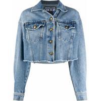 Versace Jeans Couture Jaqueta Jeans Com Logo - Azul