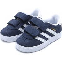 Tênis Couro Adidas Menino Gazelle Cf I Azul-Marinho