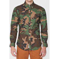 Camisa Polo Ralph Lauren Slim Militar Marrom/Verde