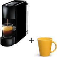 Cafeteira Nespresso Essenza Preto C30-Br - 110V + Canecas Basic Ceramica Com 04 Pecas Amarelo - Porto Brasil