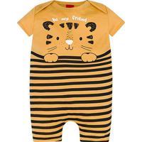 Macacão Infantil Kyly Romper Banho De Sol Listrado Masculino - Masculino-Amarelo