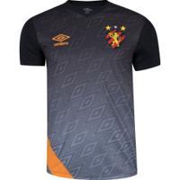 Camisa De Treino Do Sport Recife 2020 Umbro - Masculina - Preto/Laranja