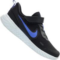 Tênis Nike Revolution 5 Glitter - Infantil - Preto/Azul