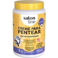 Creme Para Pentear Salon Line Brilho Umidificado 1Kg - Unissex-Incolor