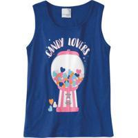 Blusa Azul Estampa Candy Lovers Malwee Kids