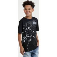 Camiseta Juvenil Batman Manga Curta Liga Da Justiça