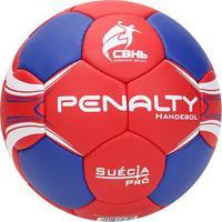 Bola De Handebol Penalty Suécia H2L Pro 4 - Unissex-Vermelho+Azul
