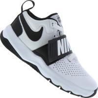 Tênis Nike Team Hustle D 8 - Infantil - Branco/Preto