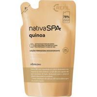 Refil Nativa Spa Locão Firmadora Desodorante Hidratante Corporal Quinoa, 400 Ml