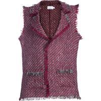Colete Coleteria De Tweed Vermelho