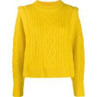 Isabel Marant Étoile Cable Knit Sweater - Amarelo