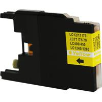 Cartucho Para Brother Lc 75   Lc 79   Universal Yellow Compatível 18Ml