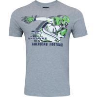 Camiseta New Era Seattle Seahawks Versatile S - Masculina - Cinza