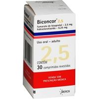 Biconcor 2,5Mg 6,25Mg Com 30 Comprimidos
