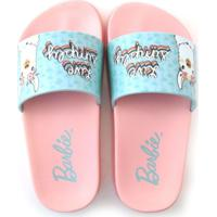 Chinelo Slide Infantil Barbie Glam