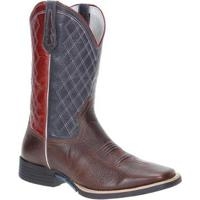 Bota Couro West Country Western Masculina - Masculino-Marrom