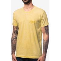 Camiseta Amarela Marmorizada 103615