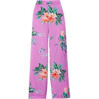 Calça Pantalona Cetim Floral Amissima - Rosa