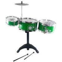Bateria Instrumento Musical Infantil Diversao Brinquedo 9150 Verde