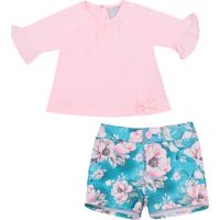 Conjunto Miniclo Flowers Floral - Rosa