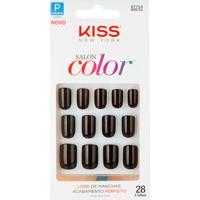 Unhas Postiças Kiss New York Salon Color Tamanho Curto Ksc51 Ref 67714 Com 28 Unidades