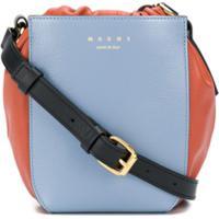 Marni Gusset Shoulder Bag - Azul