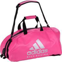Bolsa Mochila Adidas Kick Boxing 2In1 Pu Rosa/Prata-65L