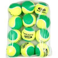 Bola De Tênis Gamma Quick Kids Verde Estágio 1 Pack Com 12 Unidades - Unissex