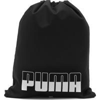 Bolsa Puma Plus Gym Sack Li Preta