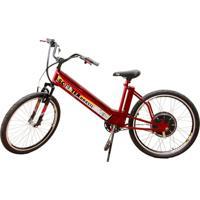 Bicicleta Elétrica Scooter Brasil Mtb 800W 48V 12Ah Cor Cereja