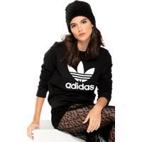 Moletom Fechado Adidas Originals Crew Preto