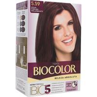 Tintura Creme Biocolor Beleza Absoluta Niasi Acaju Púrpura Deslumbrante 5.59 Kit