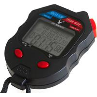 Cronômetro Ax Esportes Digital Profissional Com 100 Voltas - Fa514 Preto