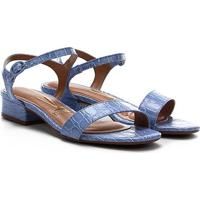 Sandália Vizzano Baixa Croco Feminina - Feminino-Jeans