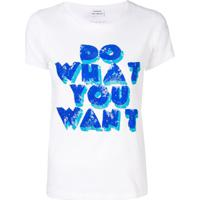 P.A.R.O.S.H. Do What You Want T-Shirt - Branco
