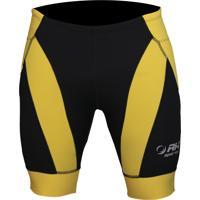 Bermuda De Corrida Rh Sports X4 Performance Preto/Amarelo