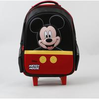 Mochila De Rodinhas Infantil Mickey Mouse Preta